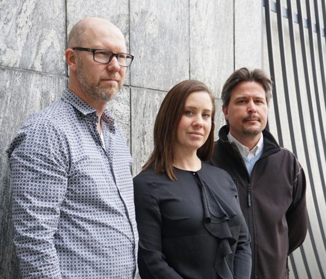 Bo Norrman, Anna Ulff och Stefan Lusth.